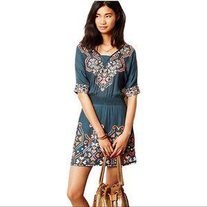 Anthropologie Baraschi Embroidered Dress